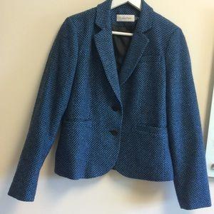 Calvin Klein blue & Black blazer size 10